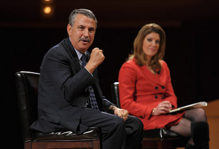 Tom Friedman and Moderator Norah O'Donnell of NBC